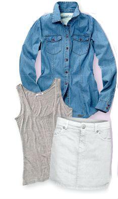 джинсовая рубашка с чем сочетать