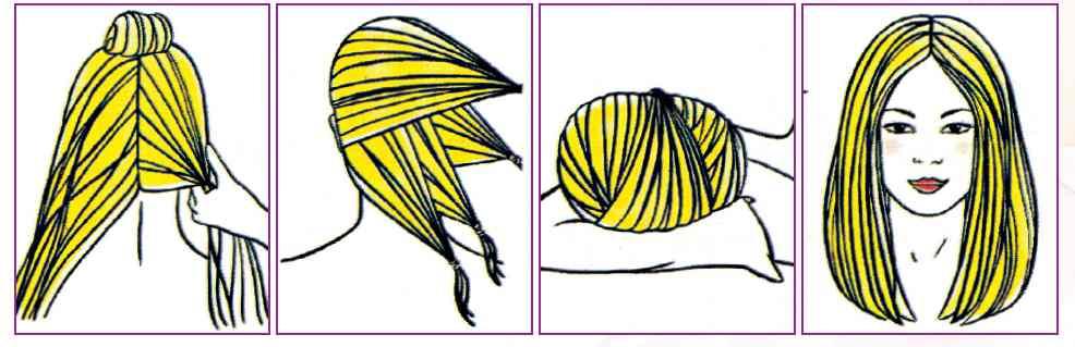 Как сделать чтобы волосы были прямыми после резинки