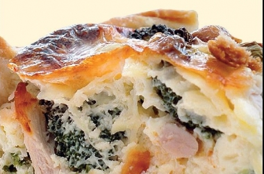 Пирог с брокколи и куриным филе