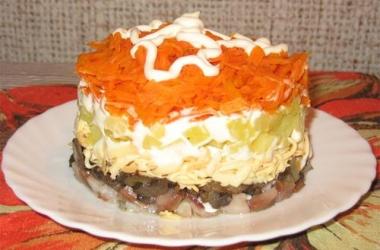 Новогодний салат «Лисья шубка»