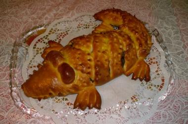 Пирог «Крокодил»