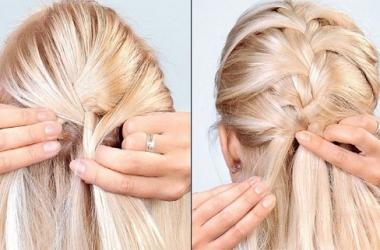 Модная укладка для длинных волос: коcы и косички (видео)