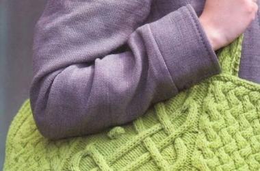 Самые модные сумки осени - вязаные (фото)
