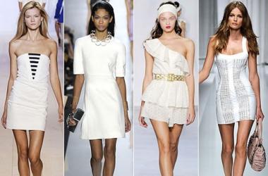 Маленькое белое платье: тренд осени-2011