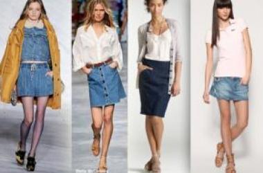 Джинсовая юбка: найди  вариант по фигуре (фото)