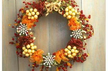 Украшаем дом: рождественские венки (ФОТО)