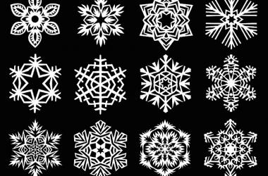 Как вырезать красивую снежинку из бумаги (видео)