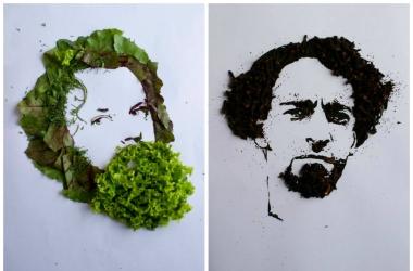 Мужские портреты из зелени и специй от Надежды Антонец