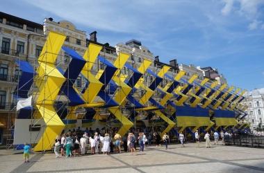День Независимости Украины: в Киеве открыли выставку украинских флагов