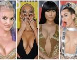 Сумасшедшие декольте на MTV: самые роскошные звездные бюсты