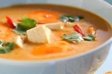 Тыквенный суп-пюре с ширатаки «Узелки» и тофу (пошаговый рецепт с фото)
