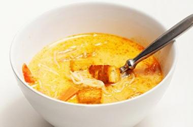 Тайский суп с Ширатаки на кокосовом молоке (пошаговый рецепт с фото)