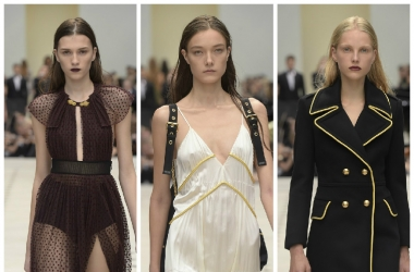 Мода весна-лето 2016: откровенные наряды от Burberry на неделе моды в Лондоне - кружево вместо клеточки (фото)