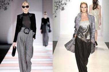 Модный тренд 2012: широкие брюки