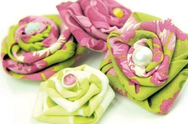 Цветы из ткани своими руками, 10 простых способов. МК oblacco 53