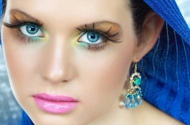 Летний макияж в голубых тонах (фото)