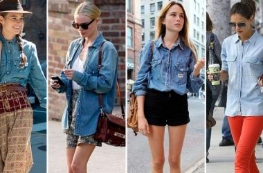 С чем носить джинсовую рубашку? (фото)
