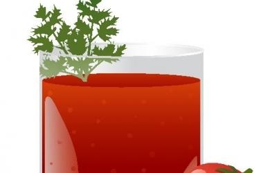 Летний томатный напиток с огурцом