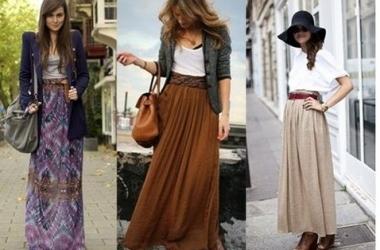 С чем комбинировать узкую юбку макси (фото)