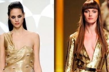 Хит-2012 - золотое вечернее платье (ФОТО)