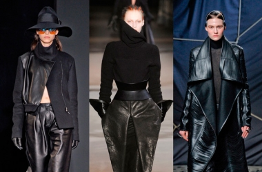 Тренд осени-2012 - черная кожа (ФОТО)