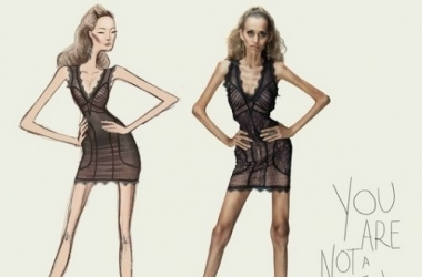 Шокирующая рекламная кампания против анорексии (фото)