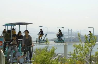 Шок-аттракцион «Небесный велосипед» открыли в Японии (фото)