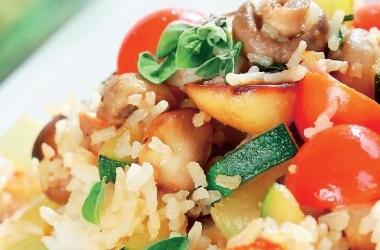 Рецепт дня: ризотто из овощей с грибами