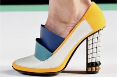 Модная обувь лето 2013: шикарная геометрия от Fendi (фото)