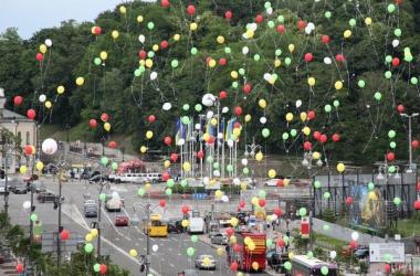 В Киеве установили рекорд по запуску воздушных шаров с желаниями детей