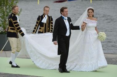 Свадьба шведской принцессы: невероятное свадебное платье (фото)