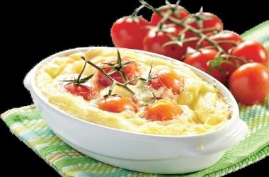 Рецепт дня: гратен из цукини с томатами