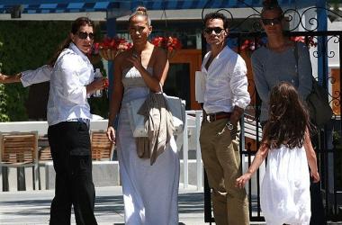 Джей Ло провела время с бывшим мужем Марком Энтони (фото)
