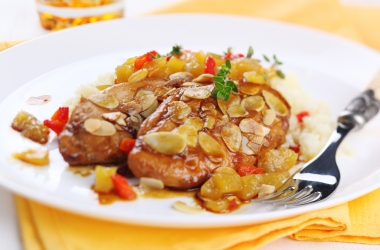 Легкий ужин: рецепт филе с миндалем