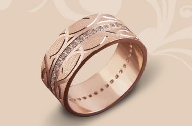 Коллекция обручальных колец с алмазной гранью от ЮЗ 'Золотой Век'