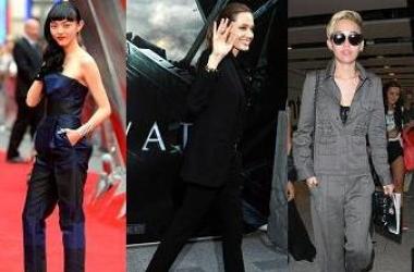 Брючные тренды 2013: звезды в модных костюмах (фото)