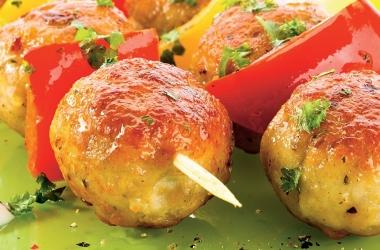 Рецепт дна: кюфта с болгарским перцем на шампурах