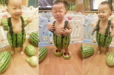 Китайцы шьют детям одежду из… арбуза (фото)