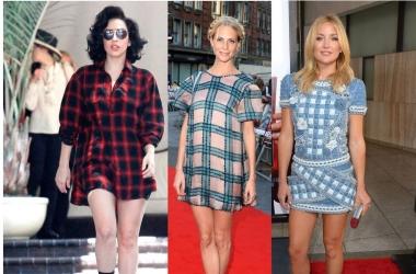 Мода осень 2013: звезды выбирают платья в клетку (фото)