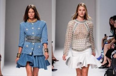 Неделя моды в Париже: джинсово-клетчатый соблазн от Balmain (фото)