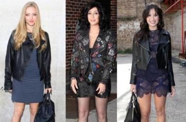 Мода осень 2013: используй яркий дуэт куртка-косуха с платьем (фото)
