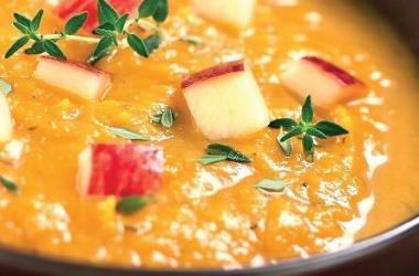 Суп-пюре из тыквы: рецепт с яблоками
