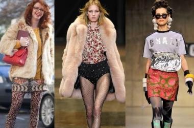 Модные колготки осень-зима 2013: принт, блеск и эпатаж (фото)