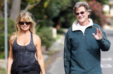 Возраст спорту не помеха: Курт Рассел и Голди Хоун на пробежке (фото)