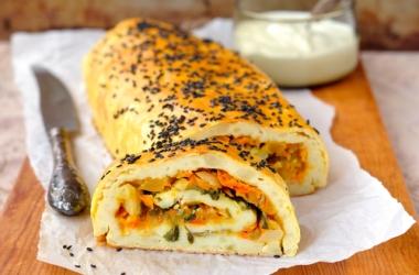Фаршированный хлеб по-магрибски: рецепт оригинальной закуски