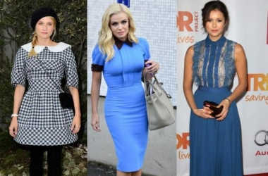 Мода зима 2014: в тренде платья с воротничком (фото)