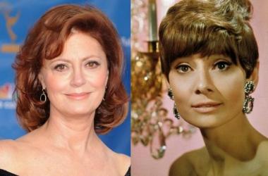 Антивозрастной макияж: пример Сьюзен Сарандон и Одри Хэпберн