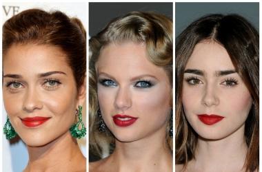 Идеи для новогоднего макияжа 2014: звезды выбирают красную помаду (фото)