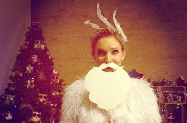 Катя Осадчая показала, где и с кем встретит Новый год 2014 (фото)