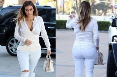 Урок стиля Ким Кардашян: как быть стройной в светлой одежде (фото)
